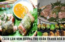 Cách làm nem nướng Thọ Xuân Thanh Hóa đúng vị