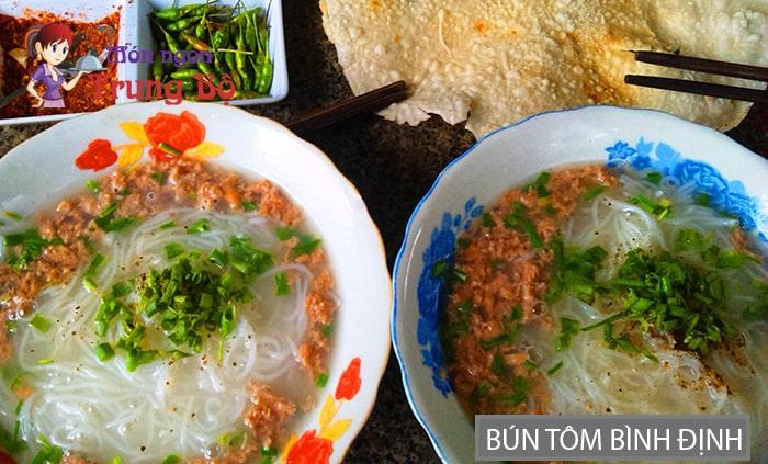 Bún tôm đặc sản Bình Định