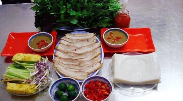quán bánh tráng cuốn thịt heo ngon ở Hà Nội 10