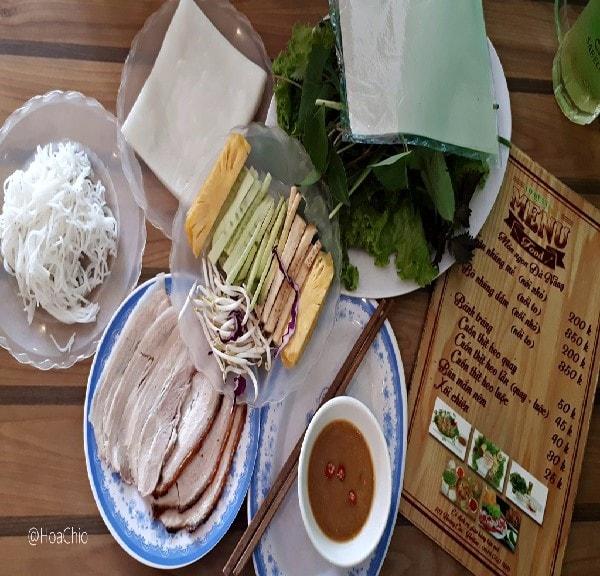 quán bánh tráng cuốn thịt heo ngon ở Hà Nội 7