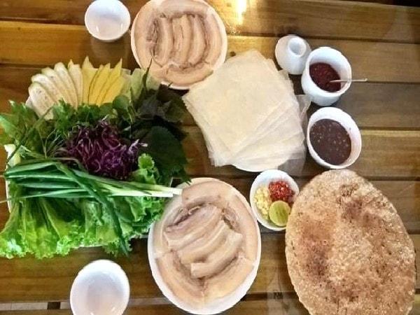 quán bánh tráng cuốn thịt heo ngon ở Hà Nội