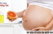 Bà bầu có nên ăn bưởi không?