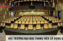 Thiết kế hội trường đại học 700m2 nên sử dụng ghế gì?