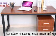 Mua bàn làm việc 1.2m tại nhà cho gia chủ mệnh Hỏa