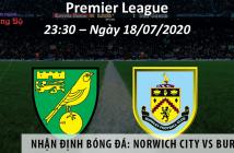 Nhận định bóng đá: Norwich City vs Burnley, 23h30 ngày 18/7 giải Ngoại Hạng Anh