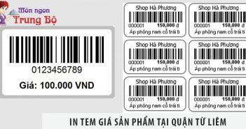 In tem giá sản phẩm tại quận Từ Liêm nhanh - rẻ - đẹp